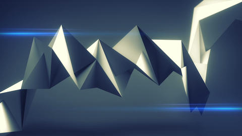 Polygonal twisted blue shape seamless loop 3D render animation Animation
