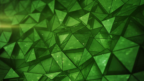 Green glossy low poly mesh seamless loop 3D render animation Animation