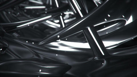 Glossy black sci-fi passageway 3D render seamless loop animation Animation