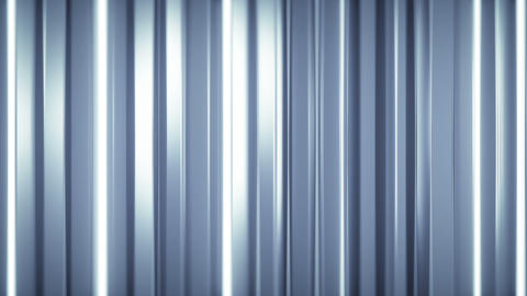 Glossy vertical bars with reflections seamless loop 3D render animation Animation