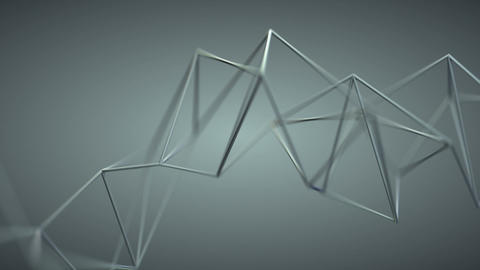 Grey wireframe shape seamless loop 3D render animation Animation