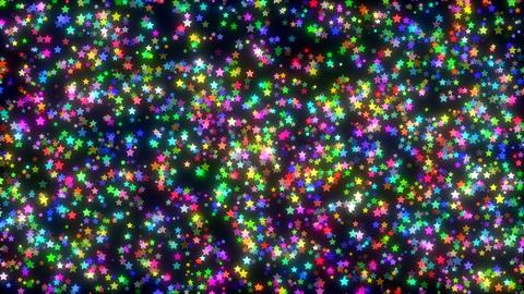 Colorful Shimmering Stars 4k Animation