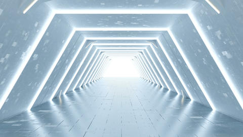 Sci-fi passageway of spaceship 3D render seamless loop animation Animation