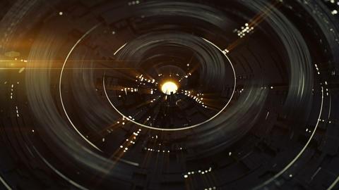 Rotating circle elements seamless loop 3D render animation Animation