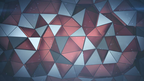 Multilayered structure with red triangular polygons loopable 3D render animation Animation
