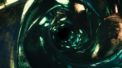 Futuristic sci-fi wormhole seamless loop 3D render animation Animation
