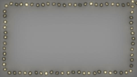Frame of decorative rattan ball string lights seamless loop 3D render animation Animation
