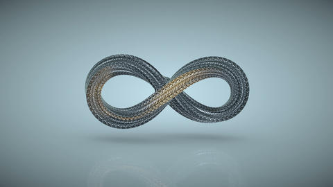 Infinity symbol is twisting seamless loop 3D render animation Animation
