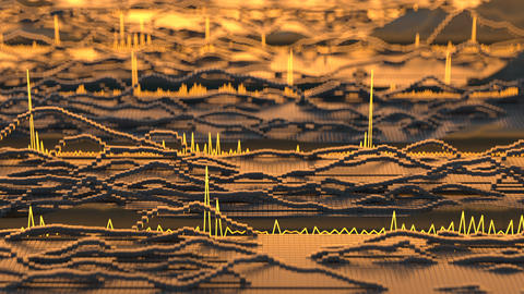 Visualization of audio wave seamless loop 3D render animation Animation