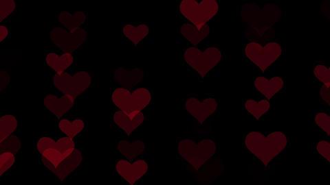 Heart bokeh pattern design Animation