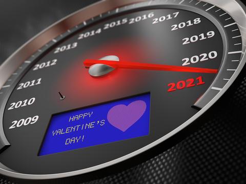 The speedometer Happy Valentine's Day Photo