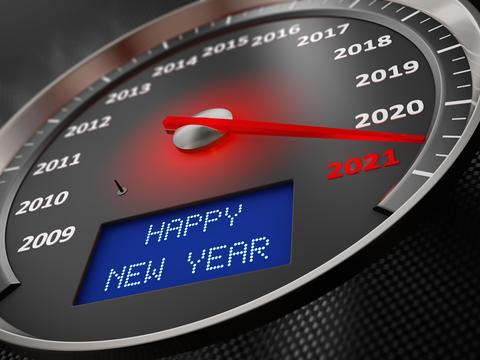 speedometer Happy New Year 2021 Photo