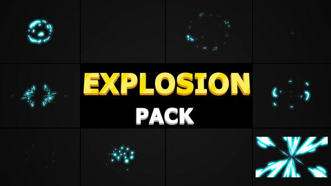 2D Explosion Elements AE 模板
