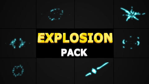 2D Explosion Elements Motion Graphics Template