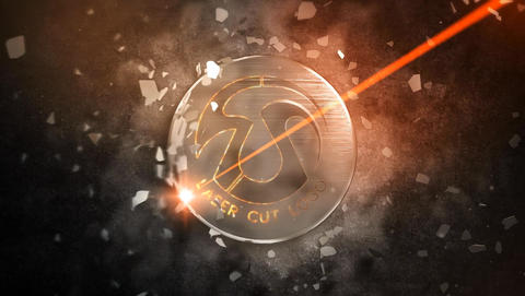 Laser Cut Logo 1 After Effects Template