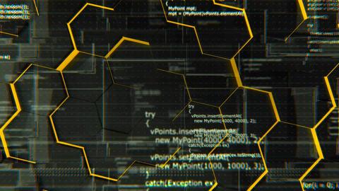 Software developer programming code, looping 4K background Animation