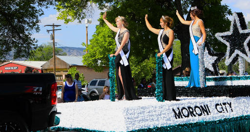 4th July Moroni City Queen Royalty parade DCI 4K Footage