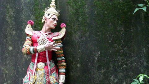 Supreme thai mask or Khon dance drama thai style Footage