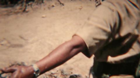 Aden Protectorate soldiers getting water vintage film HD 0128 Footage