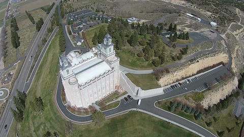 Aerial Temple Manti Utah LDS Mormon HD 0016 ビデオ