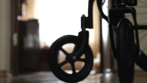 Wheelchair in a room Filmmaterial