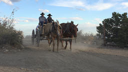 Antique historic horse wagon cowboys religion pioneer Footage