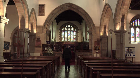 Barnard Castle St Marys Parish Church altar 4K Footage