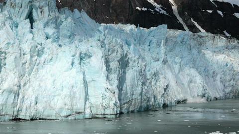 Beautiful glacier calving Glacier Bay Alaska very close HD 7301 Footage