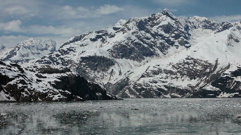 Beautiful icebergs floating ice mountains Glacier Bay Alaska HD 1436 Footage