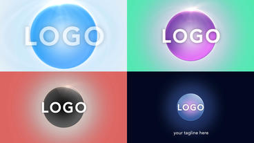 Clean Sphere Logo - Apple Motion 5 and Final Cut Pro X template Apple Motion Template