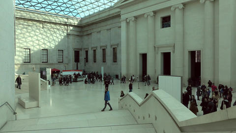 British Museum tourism educational London England 4K Footage