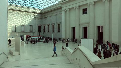 British Museum tourism educational London England 4K Footage