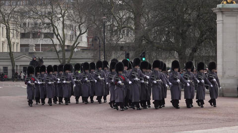 Buckingham Palace London Changing of the Guard part 2 4K Footage