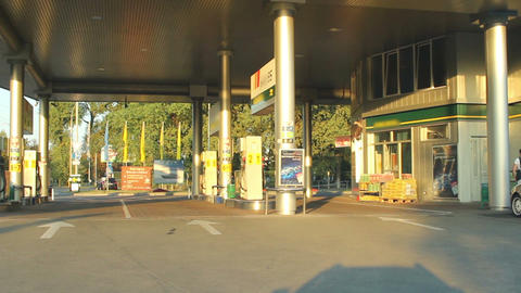 Gas station timelapse at daytime Footage