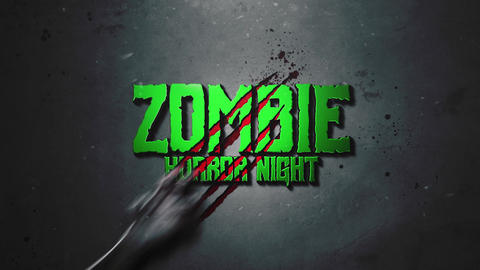 HORROR ZOMBIE HAND LOGO INTRO After Effects Template
