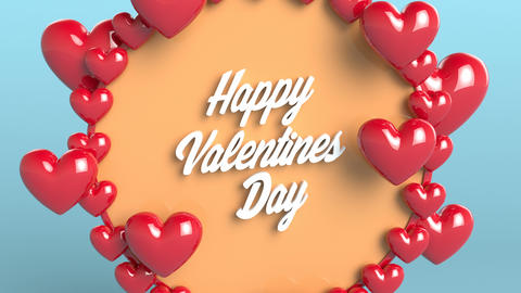 Happy Valentine's Day, love, romance, pattern Animation