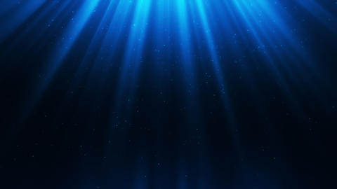 Blue Light Rays & Dust Particles Loop Motion Background Animation
