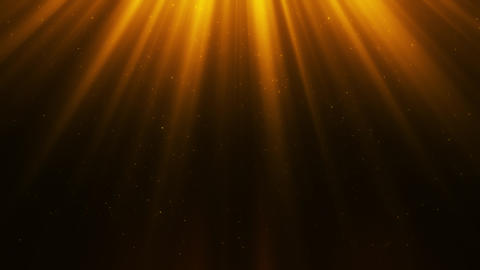 Golden Light Rays & Dust Particles Loop Motion Background Animation