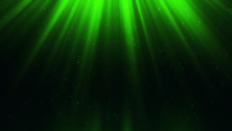 Green Light Rays & Dust Particles Loop Motion Background Animation
