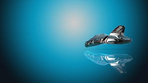 Futuristic vehicle Animation