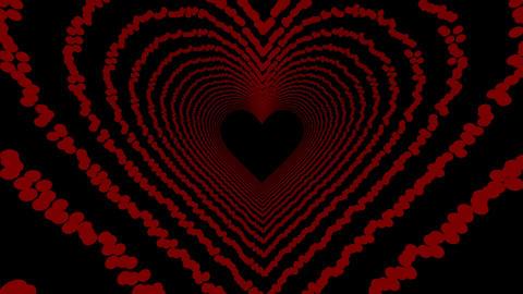 Heart Tunnel Animation