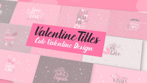 Valentine SVGs Titles Pack MOGRT Motion Graphics Template