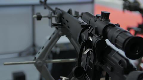 Black Sniper Rifle Stock Video Footage