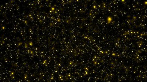 多くの輝く太った星のパーティクル(落下) CG動画