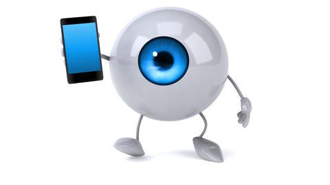 Eye with phone Animation