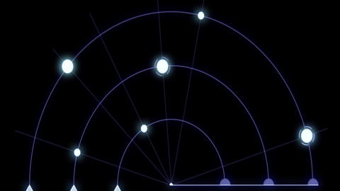 Infographic radar digital PC animation Animation