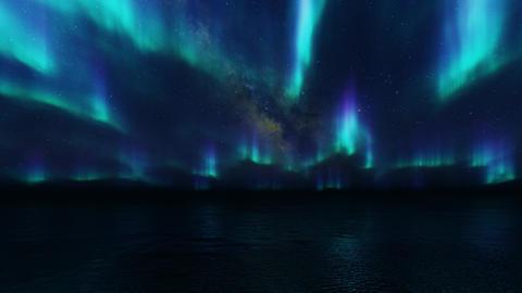 Northern landscape. Winter background. Blue background. Nature landscape. Space Live Action