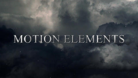 Dark Sky Titles After Effects Template
