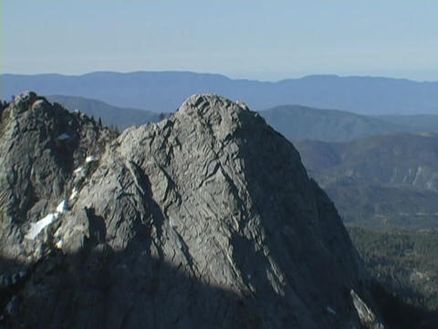 Shadows move down mountains Stock Video Footage