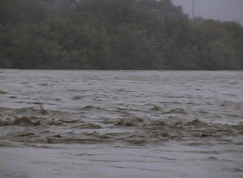 A river flows rapidly Stock Video Footage